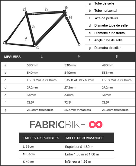 Vélo Fixie Fabric Red & Matte Black 2.0
