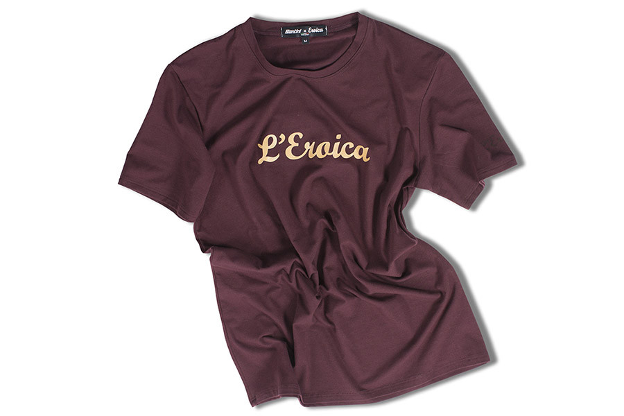 santa fixie acheter t shirt santini eroica de couleur bordeaux. Black Bedroom Furniture Sets. Home Design Ideas