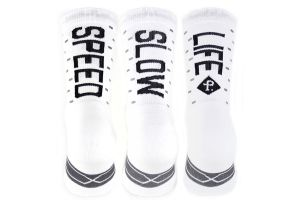 Chaussettes Pacifico Speed/Slow Life V2.0 Blanc