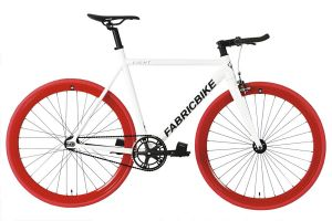 Vélo Fixie FabricBike Light White & Red