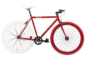 Vélo Fixie FabricBike Red & White 2.0