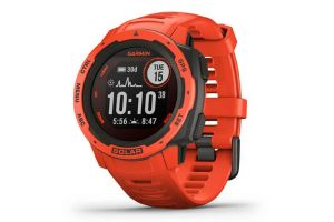 Montre Intelligente Garmin Instinct Solar Rouge