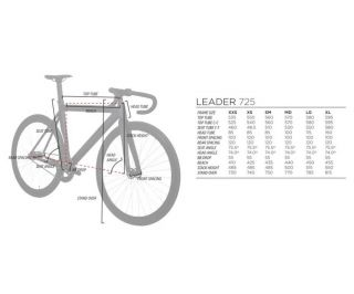 Cadre Leader 725 + Fourche I805 - Or