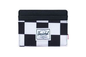 Porte-cartes Herschel Charlie Checker Black/White/Black