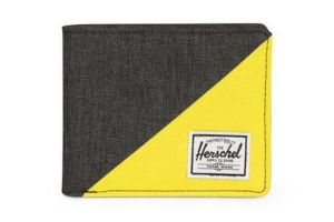 Portefeuille Herschel Roy RFID Black/Yellow