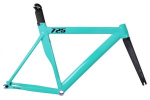 Cadre Leader 725 + Fourche I806 - Turquoise